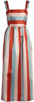 RED Valentino Striped midi dress
