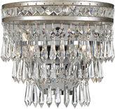 Crystorama Mercer 2-Light Hand-Cut Sconce, Silver