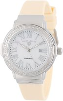 Swiss Legend Women's 20032D-02-BG South Beach Dial Diamond Accented Beige Silicone Watch