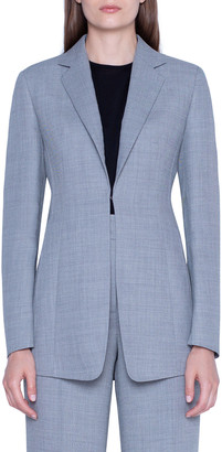 Akris Odette Diagonal Double-Face Blazer