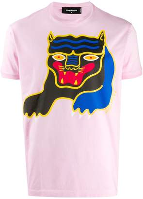 DSQUARED2 tiger graphic printed T-shirt