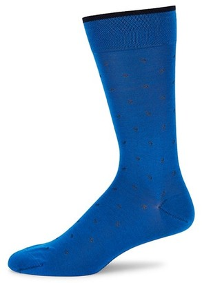 Marcoliani Milano Lisle Micro Paisley Crew Socks