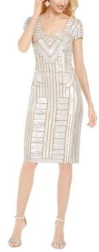 Adrianna Papell Short Beaded Dress