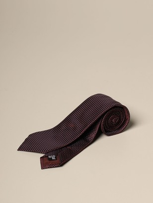 Emporio Armani Tie In Patterned Silk Blend