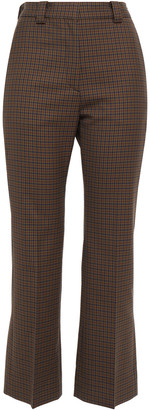 Sandro Checked Woven Kick-flare Pants
