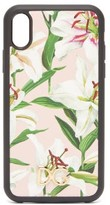 Dolce & Gabbana Lilium-print Dauphine-leather Iphone Xr Case - Womens - Light Pink