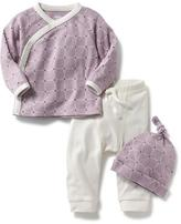 Old Navy Kimono-Wrap Top, Pants & Hat Set for Baby