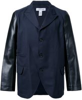 Comme des Garcons leather sleeve blazer - men - Polyester/Wool - M