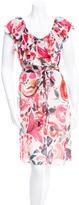 Megan Park Printed Silk Dress w/ Tags
