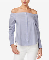Bar III Off-The-Shoulder Shirt, Only at Macy's