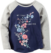 Carter's Raglan-Sleeve Navy Gray Knit Fashion Top - Girls 4-8