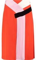 Emilio Pucci Pleated Paneled Crepe Skirt