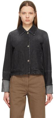 Loewe Black Denim Button Jacket