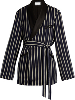 Raey Striped satin smoking jacket