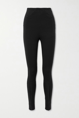 Wardrobe NYC Zip-detailed Stretch-jersey Leggings - Black
