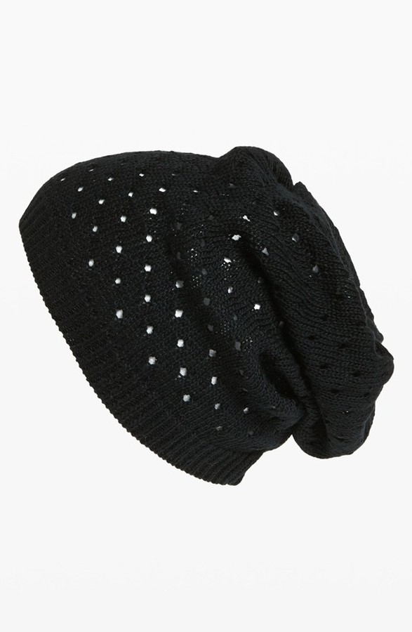David & Young Slouchy Pointelle Beanie
