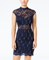 B. Darlin Juniors' Sequined Lace Bodycon Dress