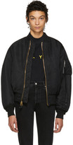Alyx SSENSE Exclusive Reversible Black Alpha Industries Edition 'Born Bored' MA-1 Bomber Jacket