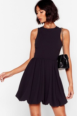 Nasty Gal Womens Racer You to the Bar Fit & Flare Mini Dress - black - 4