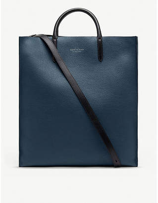 Smythson Top-handle large grained-leather tote bag