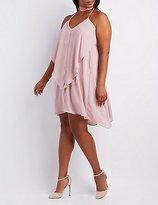 Charlotte Russe Plus Size Ruffle Shift Dress