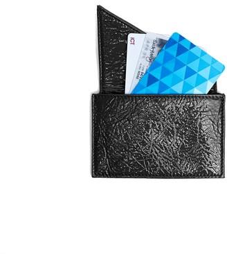 Insider Card Holder Wallet In Black Patent Leather