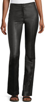 The Row Avery Seamed Leather Pants