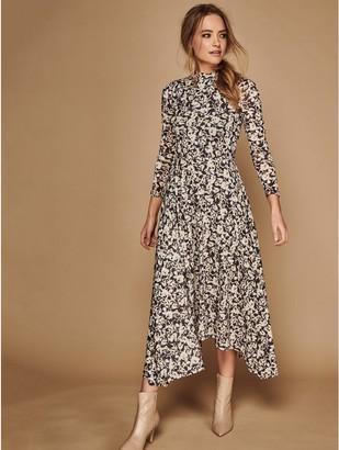 M&Co Sonder Studio floral mesh midi dress