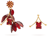 Marni Crystal and flower-drop earrings
