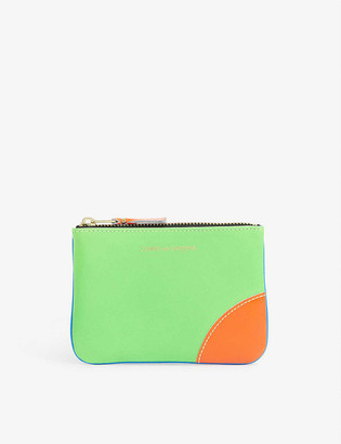 Comme Pocket Super fluorescent leather coin wallet
