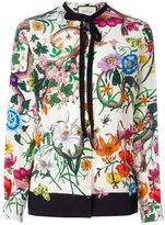 Gucci flora snake print blouse