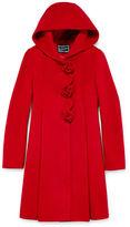 S Rothschild Rothschild Rosette Long-Sleeve Faux Wool Dress Coat - Girls