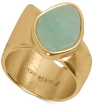 Lucky Brand Gold-Tone Stone Asymmetrical Ring