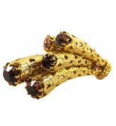 Monnaluna Italian-Made Falling Stars Gold Finished Brass Pin with Pink and Violet Crystals