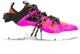 McQ Colour Block Lace-Up Sneakers