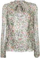 Giambattista Valli printed frill trim blouse
