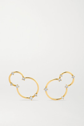 Fernando Jorge Acrobat Small 18-karat Gold Diamond Earrings - one size