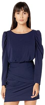 La Vie Rebecca Taylor French Terry Dress (Midnight Navy) Women's Clothing