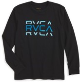 RVCA Boy's Cut Logo Graphic T-Shirt
