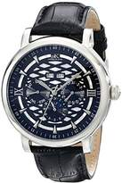 Adee Kaye Men's AK2242-M/BK Successo Analog Display Automatic Self Wind Black Watch