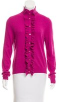 Tory Burch Wool-Blend Button-Up Cardigan