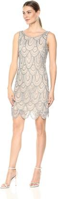 Pisarro Nights Women's Short Dress with LACE Patterned Motif