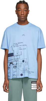 A-Cold-Wall* A Cold Wall* Blue Blueprint T-Shirt