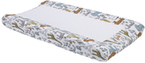 DwellStudio Gray & White Wildlife Safari Changing Pad Cover