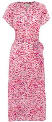 Primrose Park Fiona Pink Leopard Dress - X Small