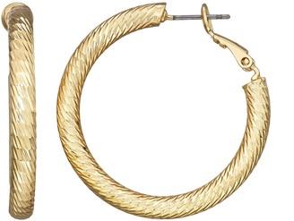 Dana Buchman Gold Tone Hoop Earrings