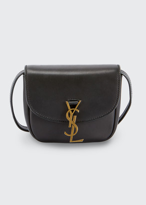 Saint Laurent Monogram Medium Flap-Top Leather Crossbody Bag