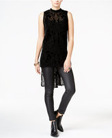 Bar III Velvet Burnout High-Low Tank Top, Only at Macy's