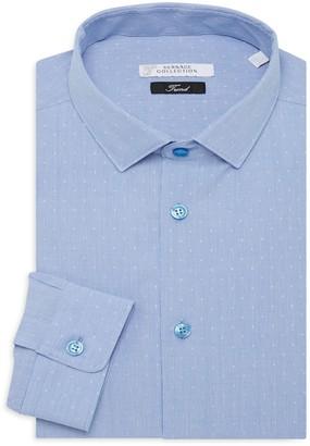 Versace Trend-Fit Dot-Print Dress Shirt