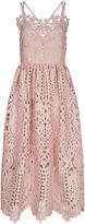 Perseverance London Dusty Pink Guipere Lace Cami Dress